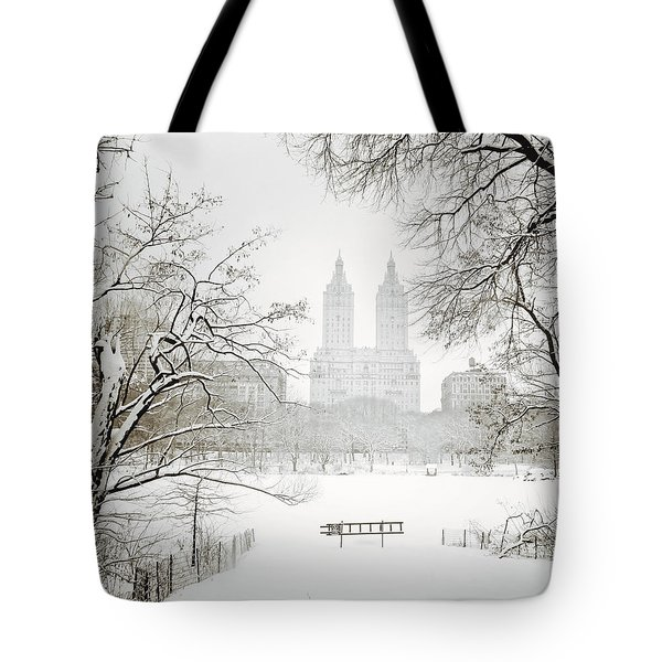 Through Winter Trees - Central Park - New York City Tote Bag