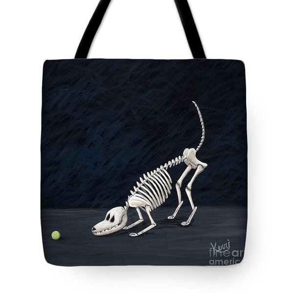 Throw The Ball Tote Bag by Kerri Ertman