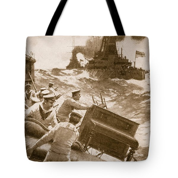 Throwing Overboard All Inflammable Luxuries When A Battleship Is Cleared For Action Tote Bag
