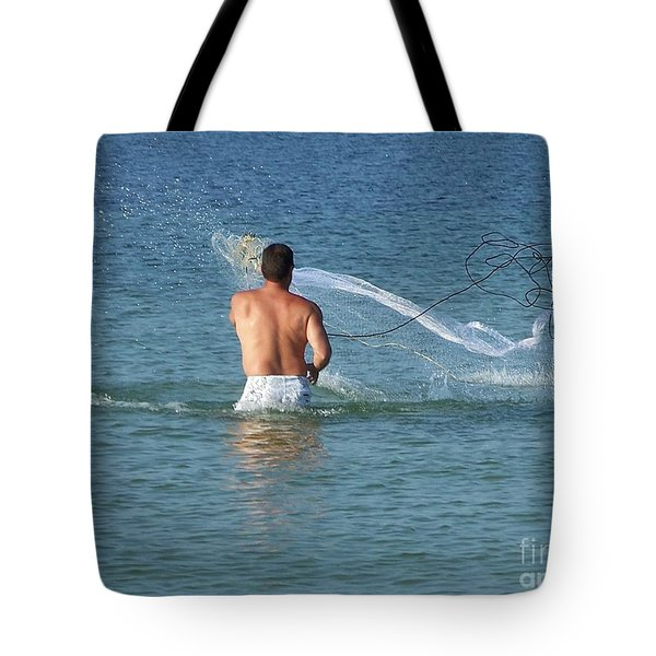 Throwing The Net Tote Bag