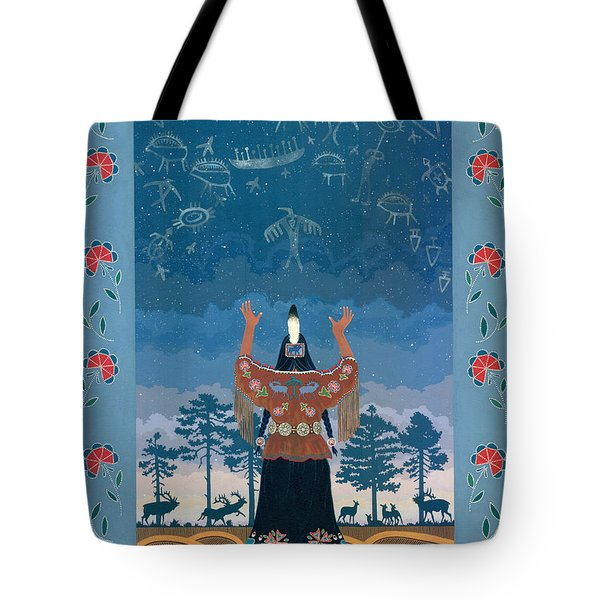Tote Bag featuring the painting Thunder Girl II by Chholing Taha