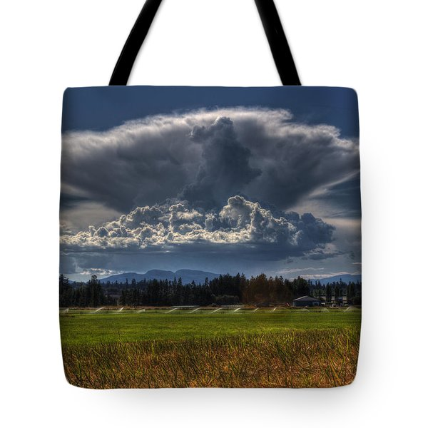 Thunder Storm Tote Bag by Randy Hall