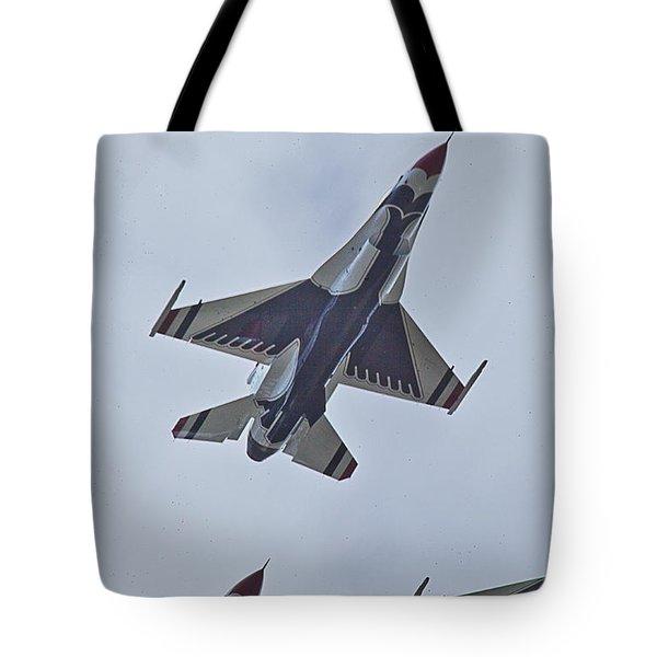 Go Go Thunderbirds Tote Bag by Richard Engelbrecht