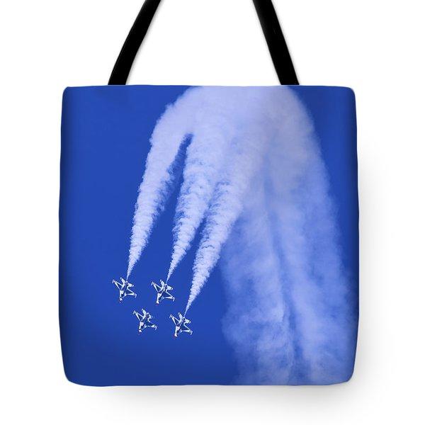 Thunderbirds Diamond Formation Downwards Tote Bag