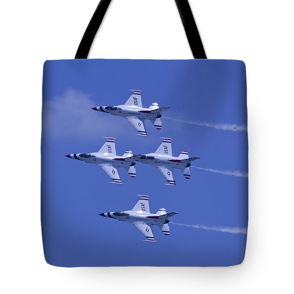 Thunderbirds Diamond Formation Topsides Tote Bag