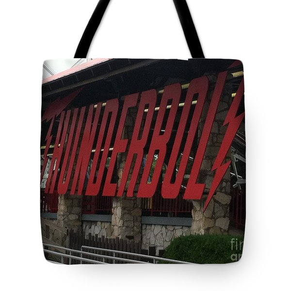 Thunderbolt Roller Coaster Tote Bag