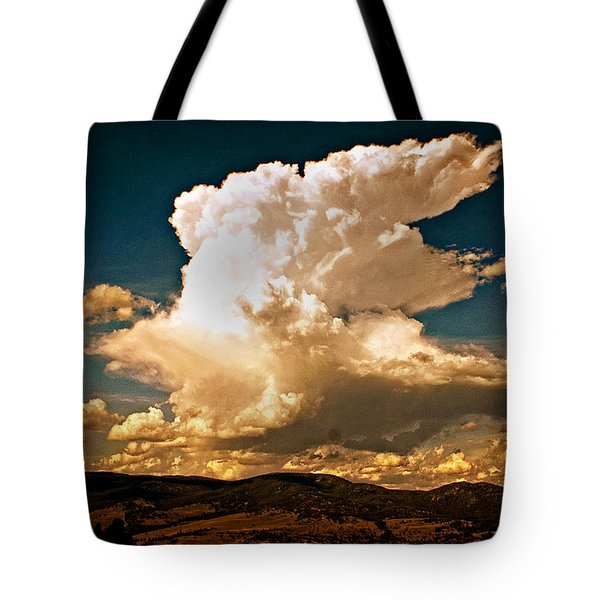 Thunderhead Over The Blacktail Plateau Tote Bag by Marty Koch