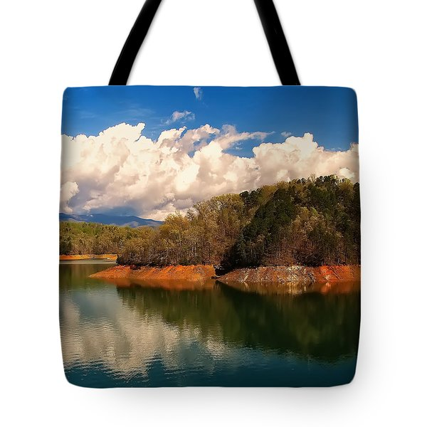 Thunderstorm Rolling Over The Smokies Tote Bag