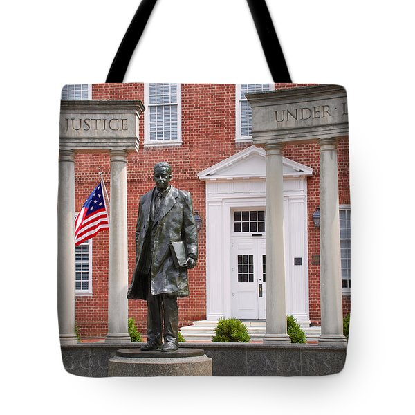 Thurgood Marshall Statue - Equal Justice For All Tote Bag
