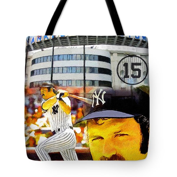 Thurman Munson Yankee For Life Tote Bag