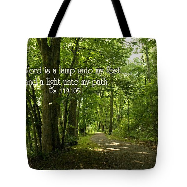 Thy Word Is A Lamp Unto My Feet Tote Bag