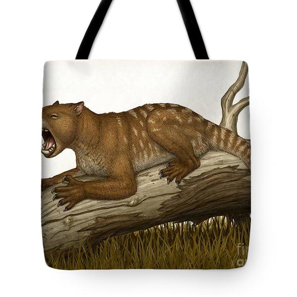 Thylacoleo Carnifex, A Marsupial Tote Bag by Heraldo Mussolini