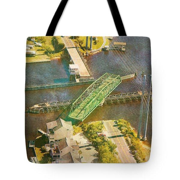 Ti Swingin' Swing Bridge Tote Bag by Betsy Knapp