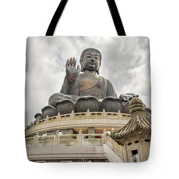 Tian Tan Buddha Tote Bag by David Gn