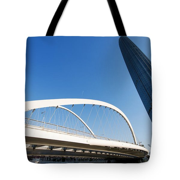 Tote Bag featuring the photograph Tianjin City by Yew Kwang