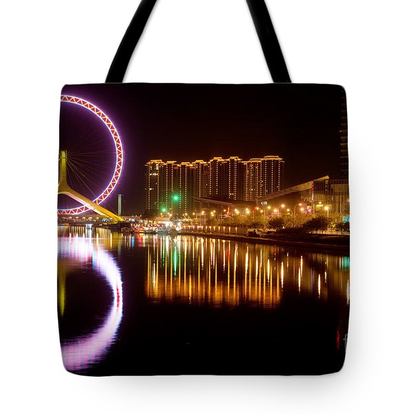 Tote Bag featuring the photograph Tianjin Eye by Yew Kwang