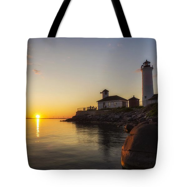 Tibbetts Point Lighthouse Tote Bag by Mark Papke