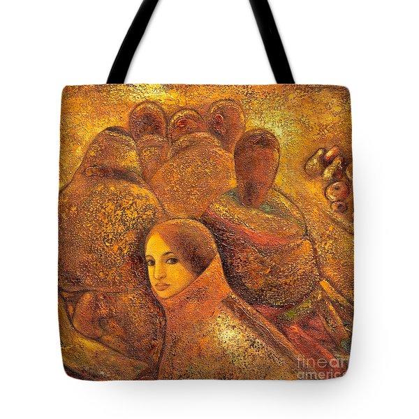 Tibet Golden Times Tote Bag by Shijun Munns