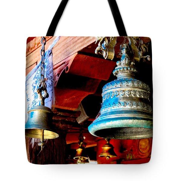 Tibetan Bells Tote Bag by Greg Fortier