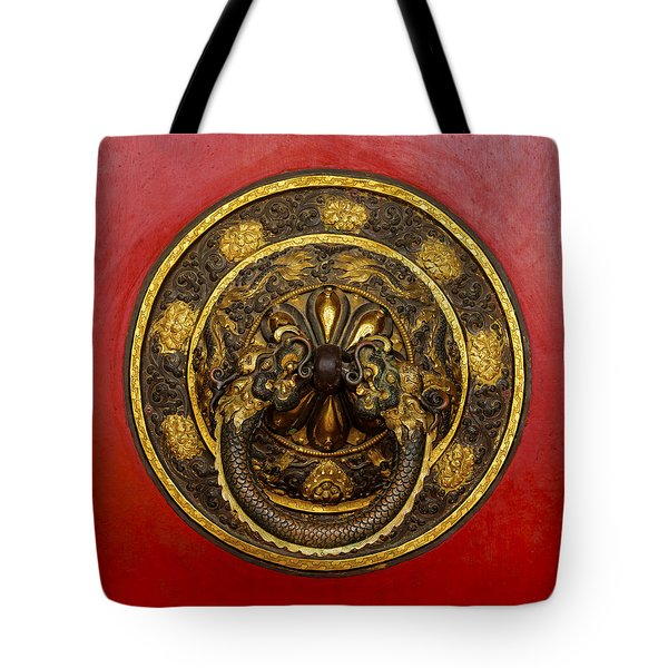 Tibetan Door Knocker Tote Bag