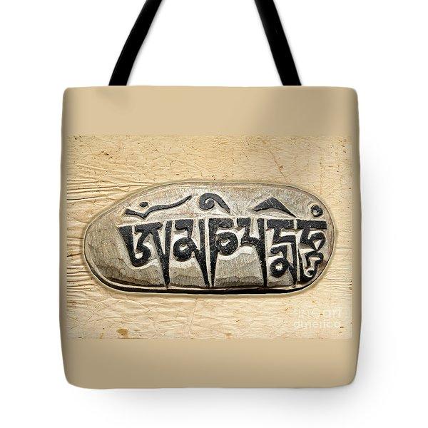 Tibetan Mani Stone - Om Mani Padme Hum Tote Bag
