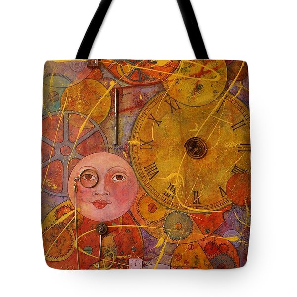 Tote Bag featuring the painting Tic Toc by Jane Chesnut