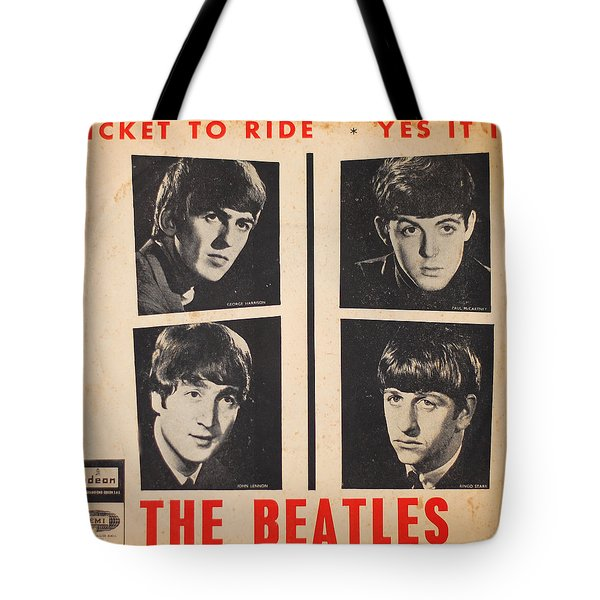 Ticket To Ride Tote Bag by Gina Dsgn