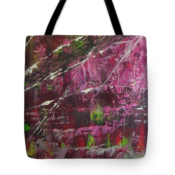 Tote Bag featuring the painting Tickled Pink by Lucy Matta