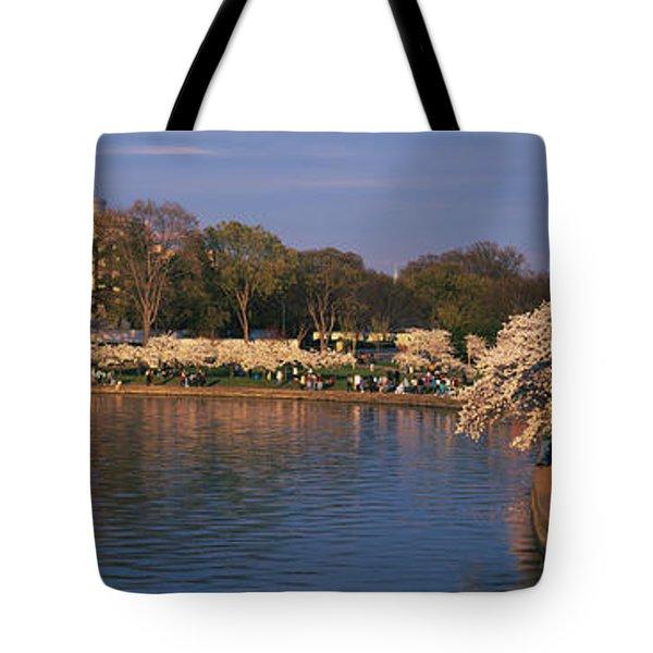 Tidal Basin Washington Dc Tote Bag by Panoramic Images