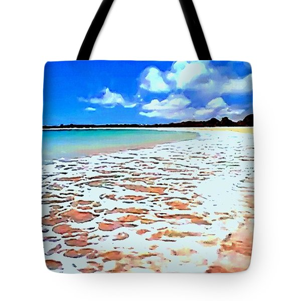 Tote Bag featuring the painting Tidal Lace by Sophia Schmierer