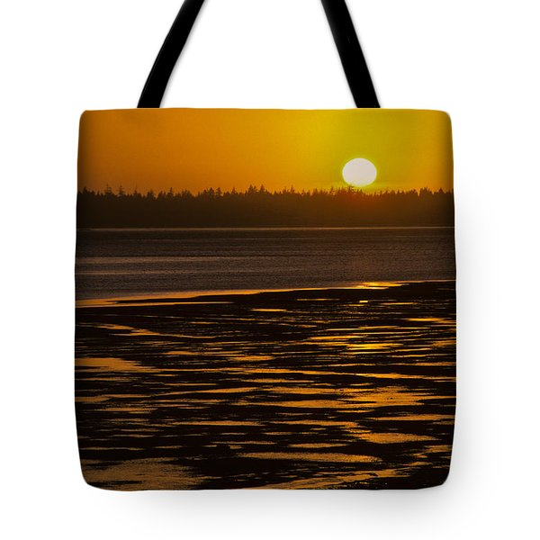 Tote Bag featuring the photograph Tidal Pattern At Sunset by Jeff Goulden