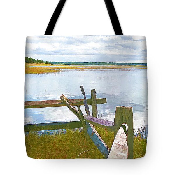 Tide And Fence Oil Tote Bag
