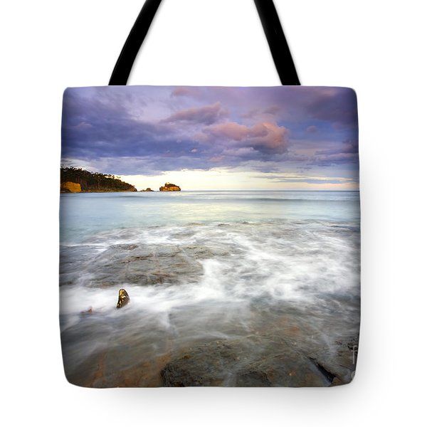 Tide Covered Pavement Tote Bag by Mike  Dawson