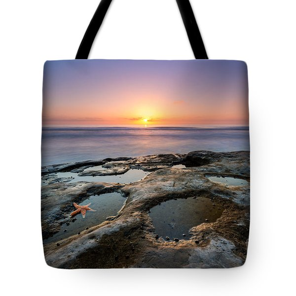 Tide Pool Sunset Tote Bag by Michael Ver Sprill