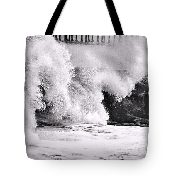 Tides Will Turn Bw By Denise Dube Tote Bag