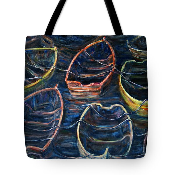 Tie Together In The Wind Tote Bag by Xueling Zou