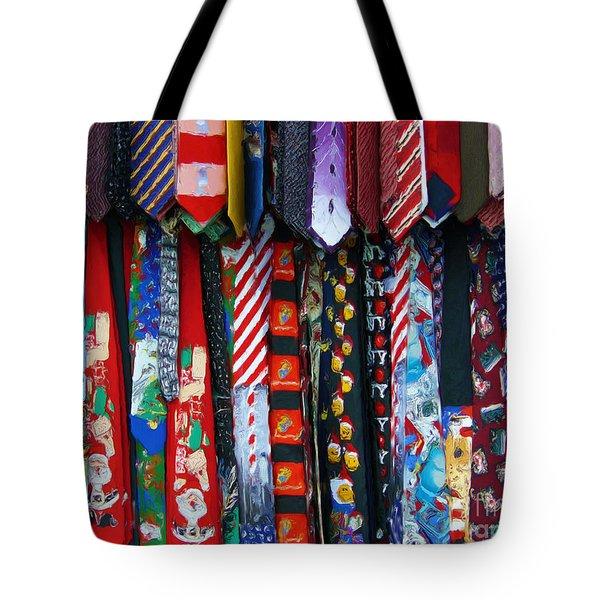 Ties Tote Bag by Jeff Breiman