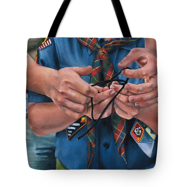 Ties That Bind Tote Bag by Lori Brackett