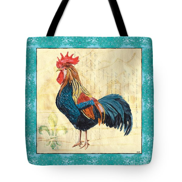 Tiffany Rooster 2 Tote Bag by Debbie DeWitt