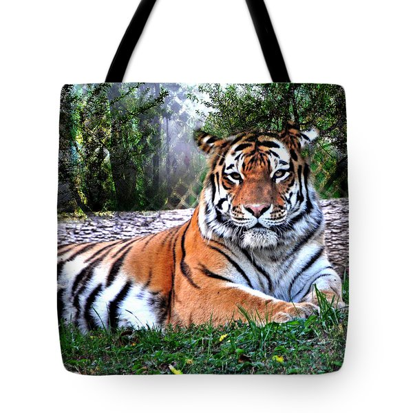 Tote Bag featuring the photograph Tiger 2 by Marty Koch