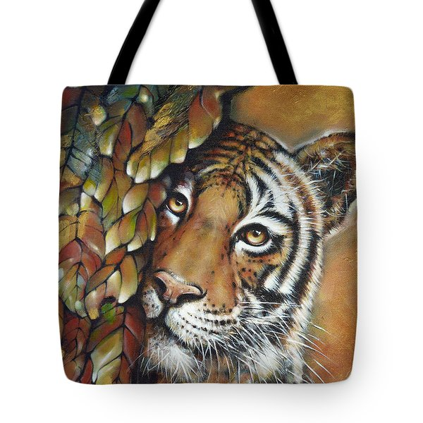 Tiger 300711 Tote Bag by Selena Boron