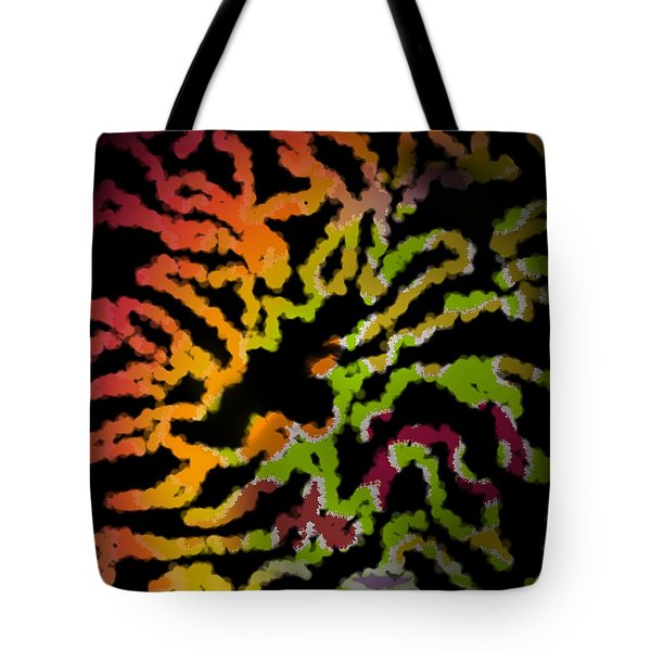 Tiger Action Tote Bag by Christine Fournier