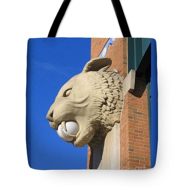 Tiger Baseball Tote Bag by Ann Horn
