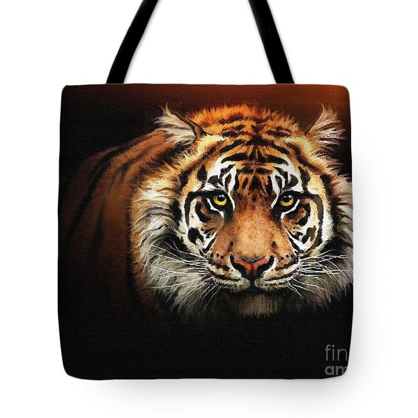 Tiger Bright Tote Bag by Robert Foster