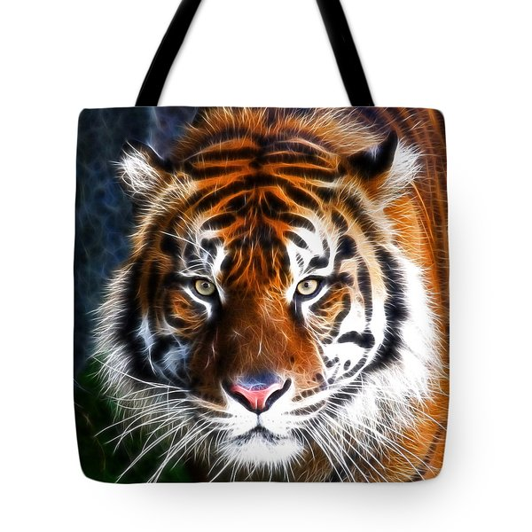 Tiger Close Up Tote Bag by Steve McKinzie