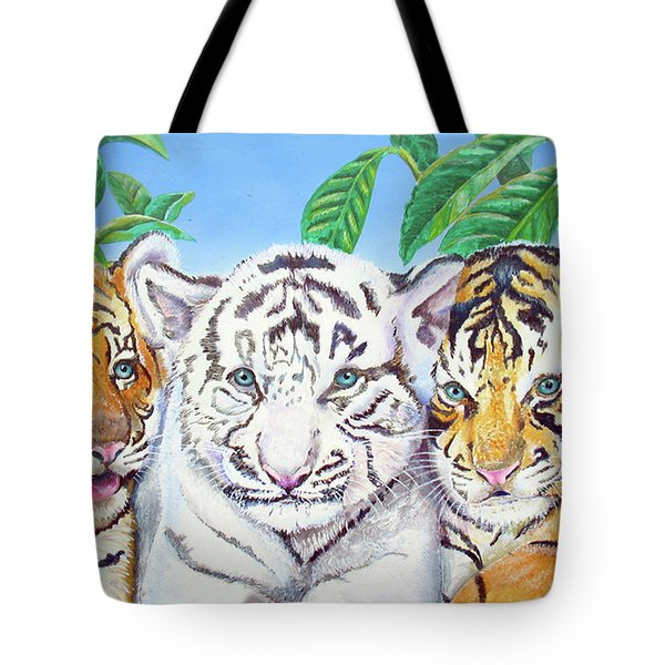 Tiger Cubs Tote Bag