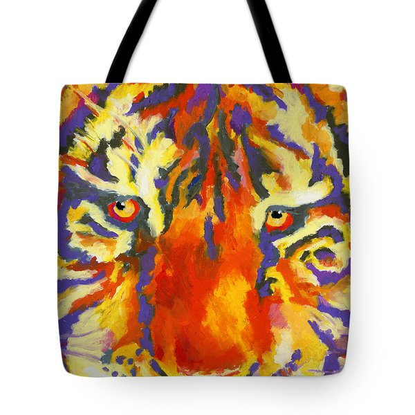 Tiger Eyes Tote Bag by Stephen Anderson