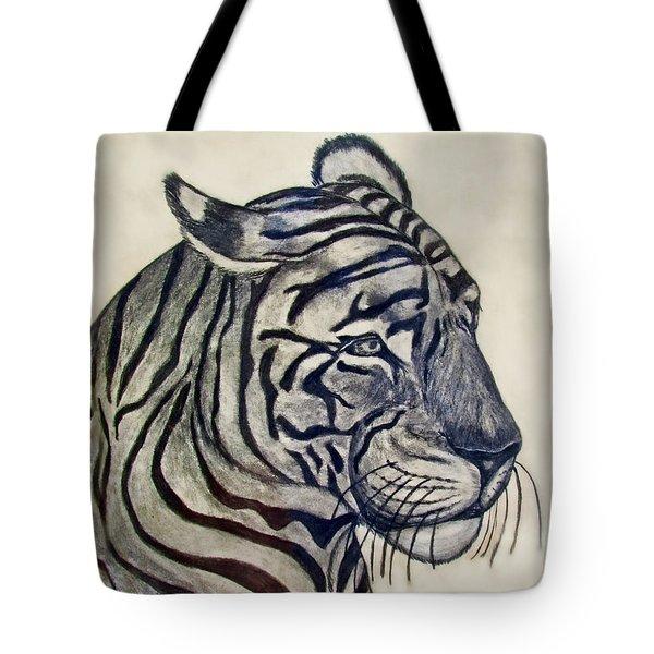 Tiger II Tote Bag by Debbie Portwood