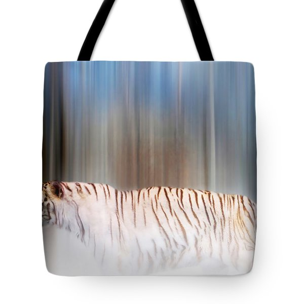 Tiger In The Mist Tote Bag