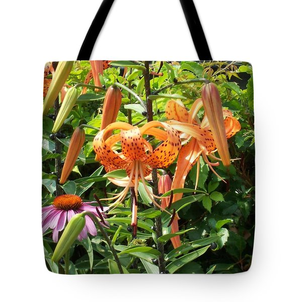 Tiger Lilies Tote Bag by Catherine Gagne